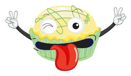 detaillierte Darstellung einer Kuchen auf einem weißen Hintergrund