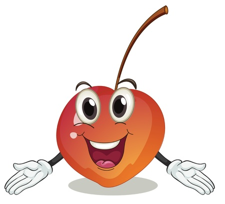 illustration of a cherry on a white background Ilustração