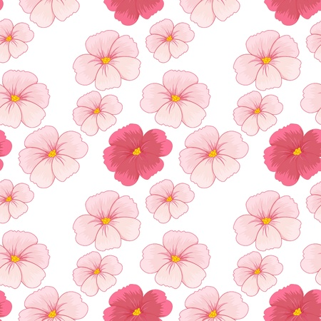 continue: illustration of flowers on a white background Illustration
