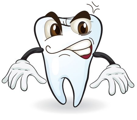 white teeth: illustration of a tooth on a white background