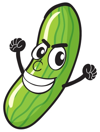 illustration of cucumber on a white background Vector