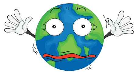 confuse: illustration of earth planet on a white background Illustration