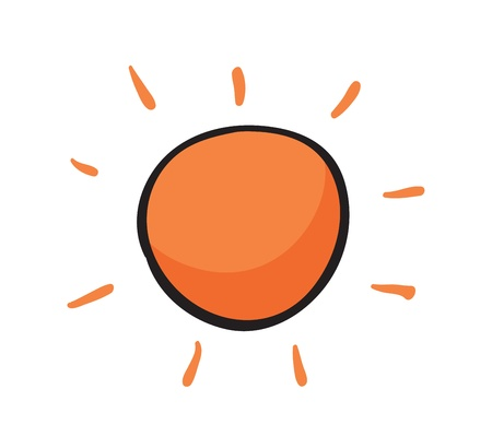 illustration of the sun on white background Stock Vector - 15706576