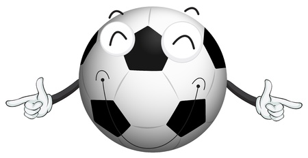 closed mouth: illustration of a football on a white background