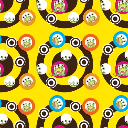 monstrous: illustrazione di mostri spaventosi su uno sfondo bianco