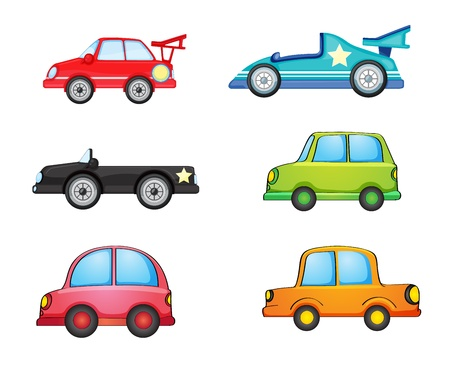 illustration of vaus cars on a white background Stock Vector - 15730692