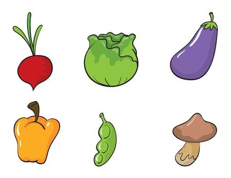 green peas: illustration of vegetables on a white background Illustration