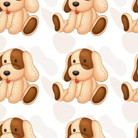 pl�schtier: Illustration eines weichen Spielzeug auf einem wei�en Hintergrund