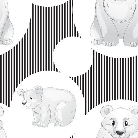 illustration of a bear on a white background Vector