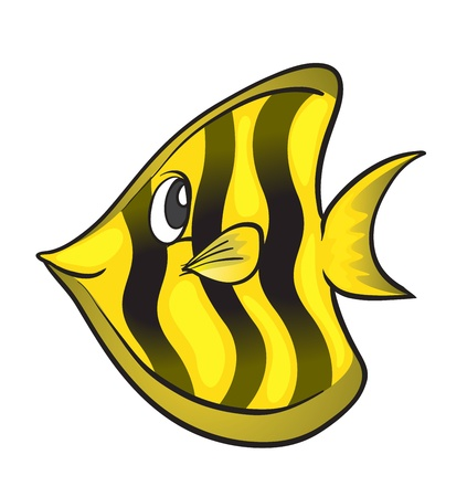 illustration of a fish on a white background Stock Vector - 15730647