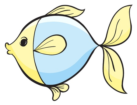 underwater fishes: illustration of a fish on a white background