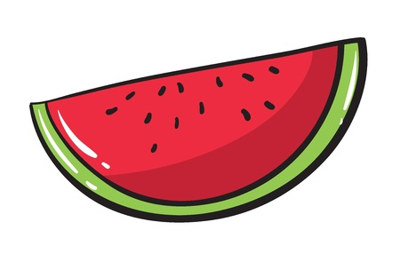 watermelon: illustration of a watermelon on a white background Illustration