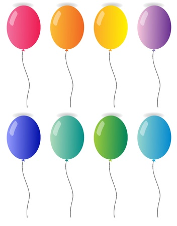 illustration of balloons on a white background Stock Vector - 15771727