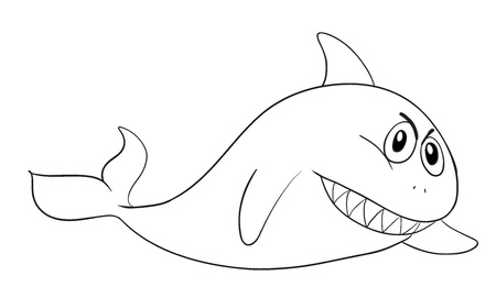 illustration of a shark on a white background Stock Vector - 15771734