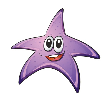 fish star: Ilustraci�n de una estrella de mar en un fondo blanco