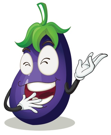 illustration of a brinjal on a white background Stock Vector - 15771722