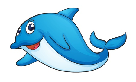 illustration of a dolphin on a white background Vector