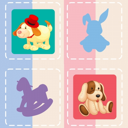 illustration of a toy on a color background