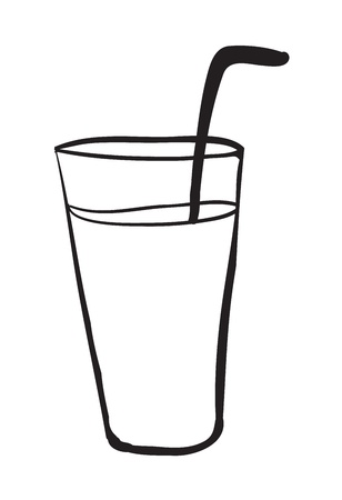 illustration of a glass on a white background Stock Vector - 15809852