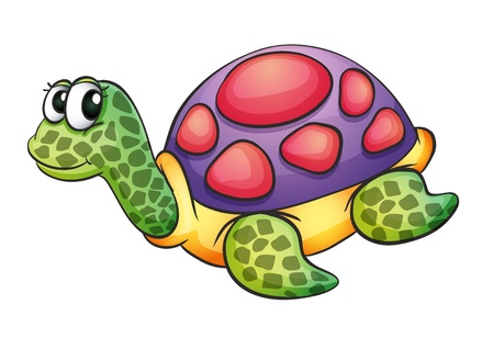 illustration of a tortise in a white background Vector