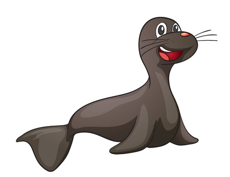 illustration of a seal on a white background Vector