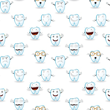 illustration of tooths on a white background Vector