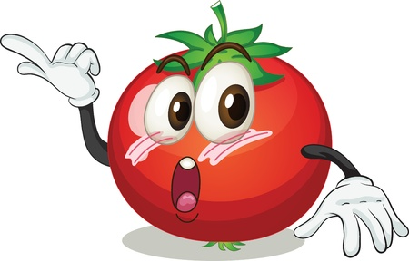 advising: illustration of a tomato on a white background