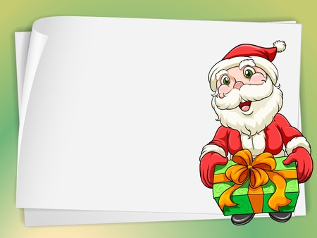 illustration of paper sheets and santa claus  Vector