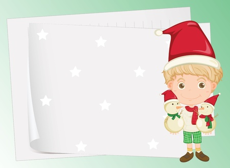 illustration of paper sheets and a boy Stock Vector - 15848740