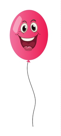 red balloons: illustration of a balloon on a white background Illustration