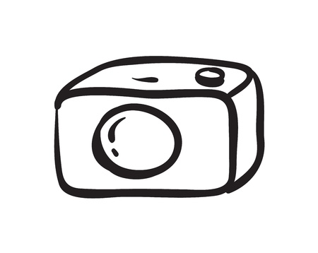illustration of a camera on a white background Stock Vector - 15848585