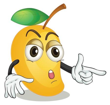 mango fruta: ilustraci�n de un mango en un baackground blanco Vectores
