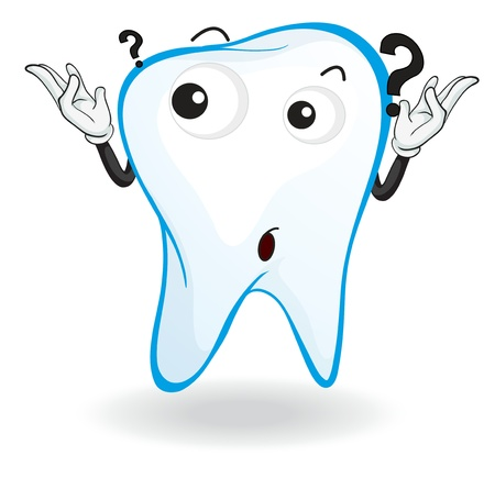 health questions: illustration of a tooth on a white background