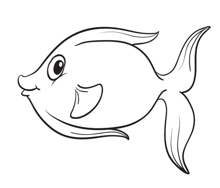 detailed illustration of a fish outline Stock Vector - 15846785