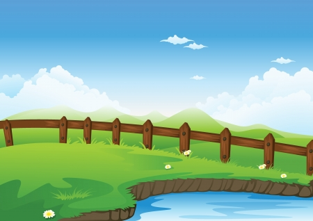 detailed illustration of a beautiful nature scene Vector