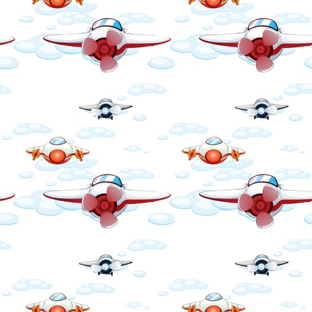 illustration of a aeroplanes on a white background Vector
