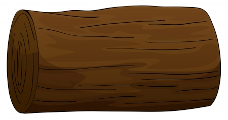 wood cuts: illustration of a timber on a white background