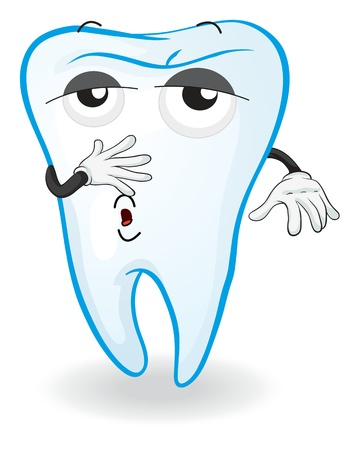 illustration of tooth on a white background Vector