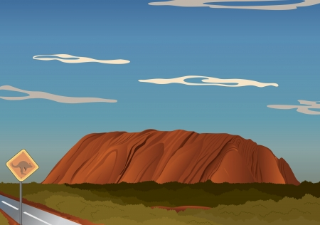 detailed illustration of a brown hill in nature Vector