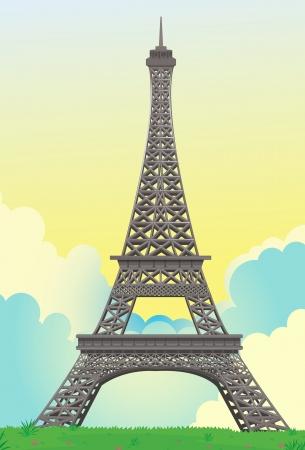 la tour eiffel: detailed illustration of Eiffel Tower in France