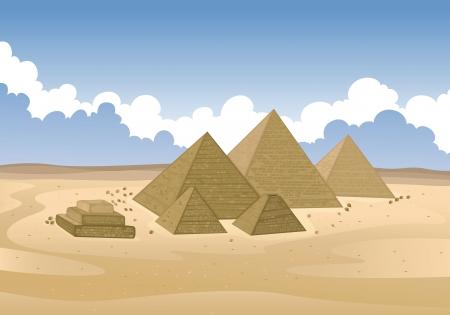 ilustración detallada de una pirámide de Egipto