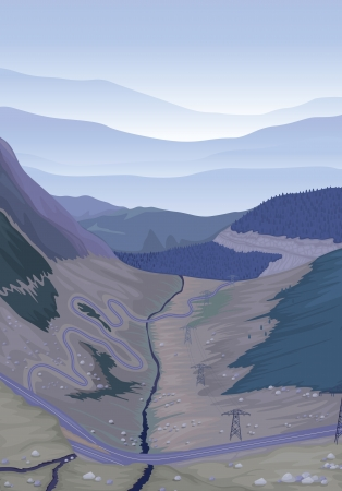 detailed illustration of a beautiful landscape Vector