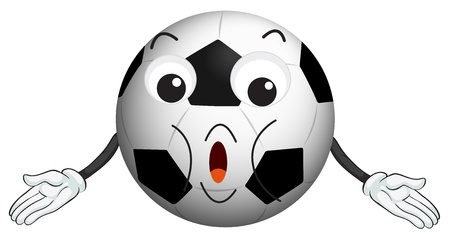 eye ball: illustration of a football on a white background