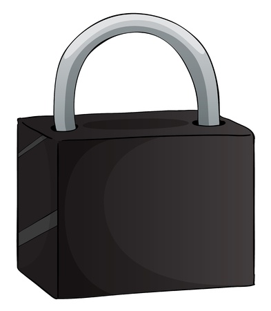 illustration of a lock on a white background Stock Vector - 15864122