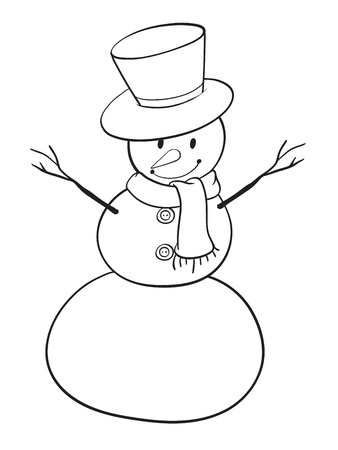 detailed illustration of a snowman on a white background Stock Vector - 15864267