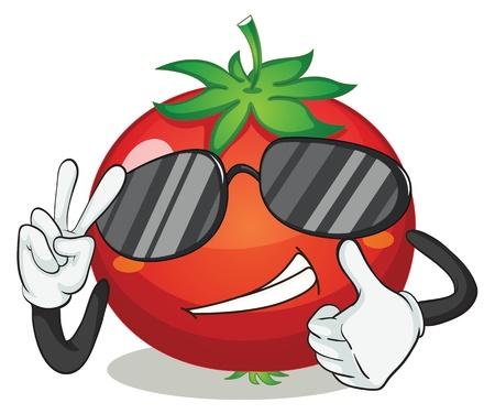 illustratie van tomaten op een witte achtergrond