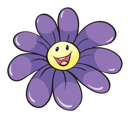 single flower: illustration of flower on white background Illustration