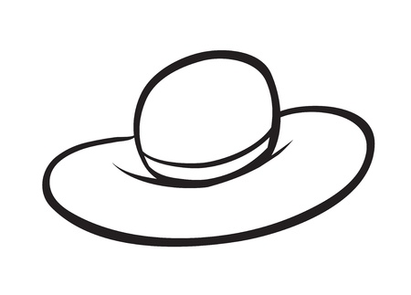 illustration of sketch of a hat on a white background Stock Vector - 15864416