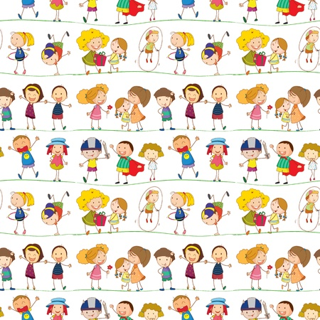 illustration of a kids on a white background Ilustração