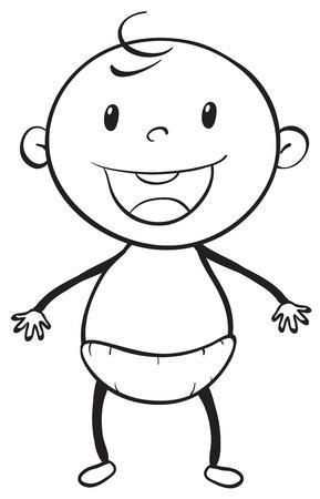 illustrazione di un disegno bambino su uno sfondo bianco